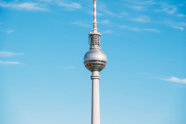 Berlin Dome  Berliner Dom TV Tower Architecture Blue Building Exterior Built Structure Cloud - Sky Communication Day Global Communications Low Angle View Nature No People Outdoors Silver Colored Sky Sphere Spire  Technology Tourism Tower Travel Travel Destinations Tv Tower Berlin