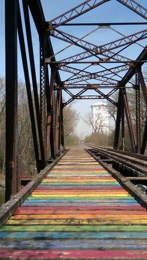 The Purist (no Edit, No Filter) Color Splash Colorful Colorize Bridge Bridgeporn Train Bridge Metal Bridge Thatcher Woods