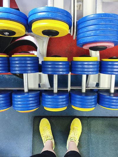 Choice Heavy Heavy Lifting Lifting Motivation Working Out Blue Close-up Day Dumbbells Low Section Multi Colored Muscles Sport Sport Body Stack Train Training