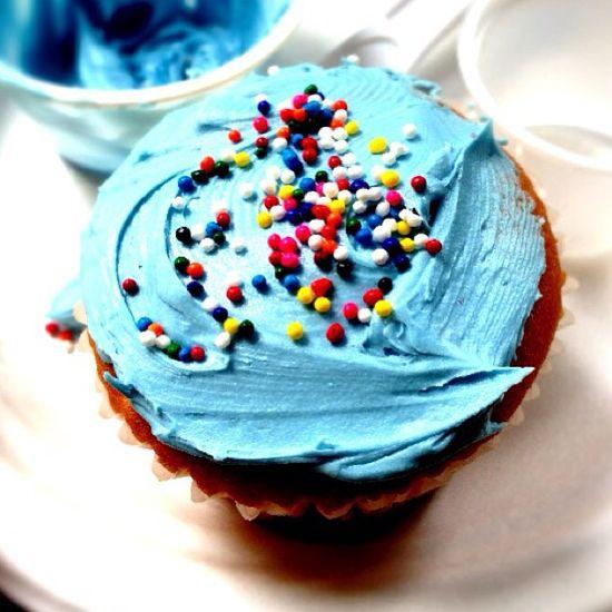 My somewhat beautiful cupcake LOL