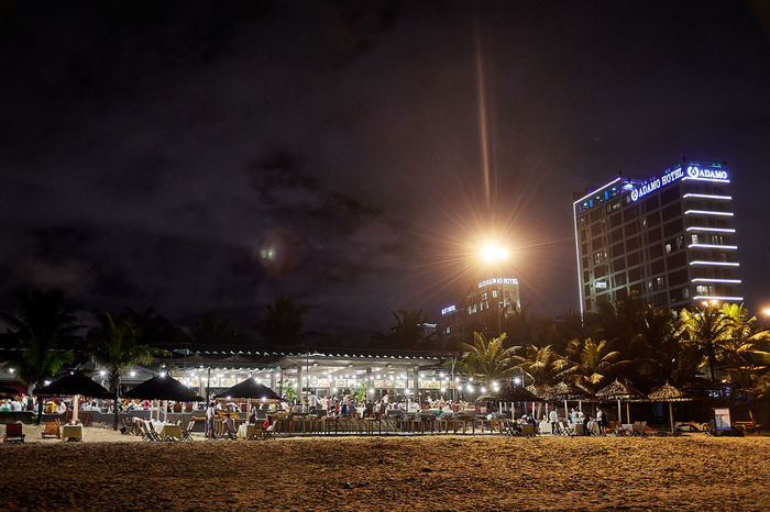 Vietnam Architecture Building Exterior Built Structure City Crowd Danang Danangbeach Illuminated Large Group Of People Nature Night Outdoors People Real People Sky