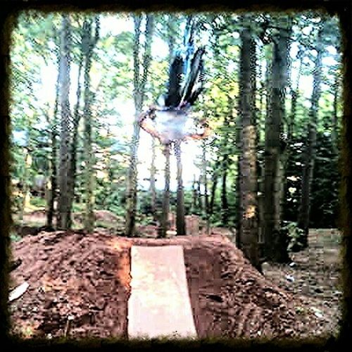 Getting In Touch Hugging A Tree Tricks flying, flip, trails, woods, jump, upside down