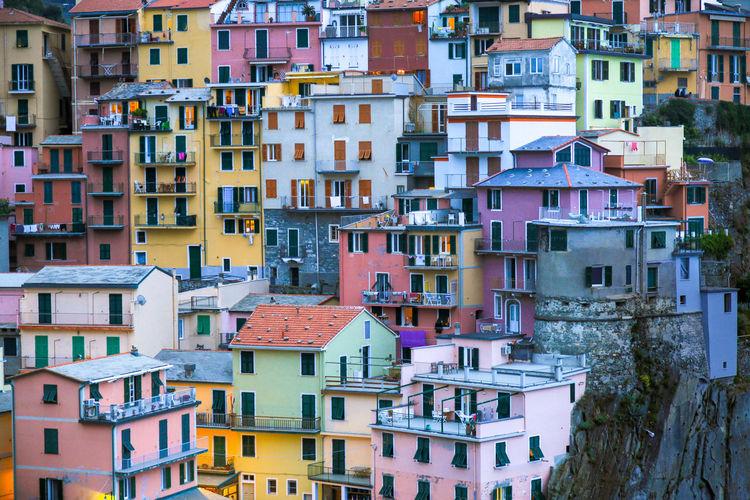 Mediterranean colorful village