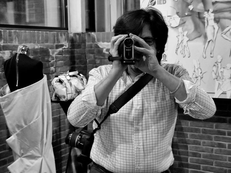 Adult Black And White Day Horizontal Indoors  One Person People Person Real People Technology Videomaker Young Adult Fresh On Eyeem  Close Up Technology