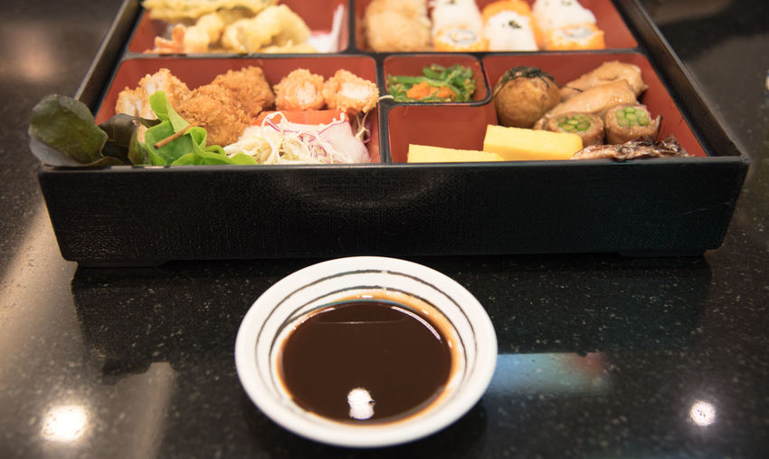 Close-up of japanese food