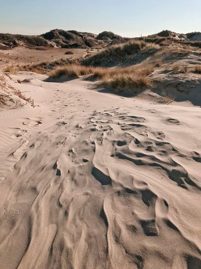 Dune Sand Beach Sand Dune Nature Tranquility Outdoors Tranquil Scene Clear Sky Sky Beauty In Nature Arid Climate Desert Landscape No People Day Scenics