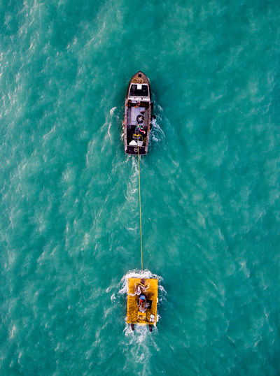Lake Michigan Water Day High Angle View Nautical Vessel Waterfront Nature Transportation Outdoors Sea Mode Of Transportation Travel No People Turquoise Colored Sport Leisure Activity Motion Directly Above Safety Floating On Water