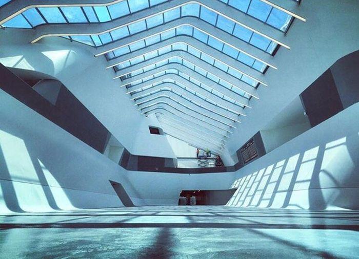 Futuristic station ~ Zaha Hadid ~ Architecture Modern Built Structure Futuristic City Illuminated Day Travel Destinations Cityscape