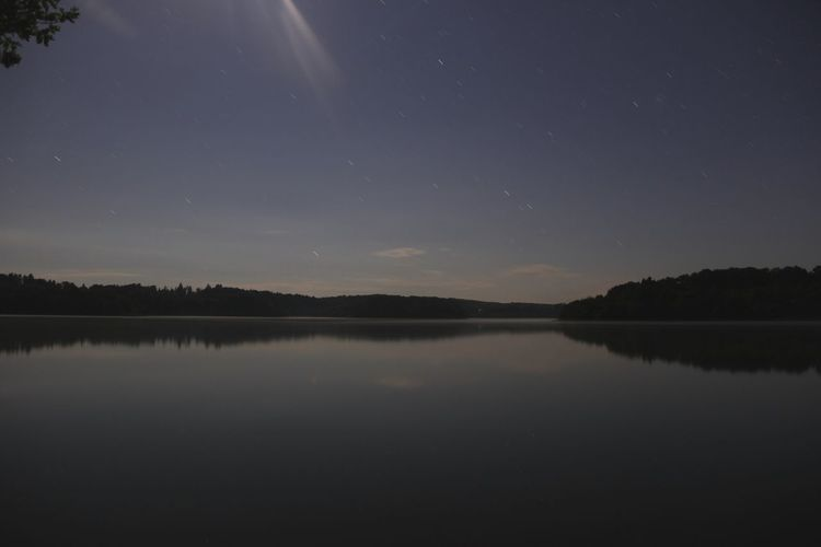 Reflection Lake Night Sky Star - Space Nature Beauty In Nature Astronomy Scenics Landscape Business Finance And Industry Clear Sky Tranquil Scene Water Constellation Moon Space No People Tree Outdoors Long Exposure 2minutes