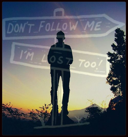 don't follow me..I'm lost too!!