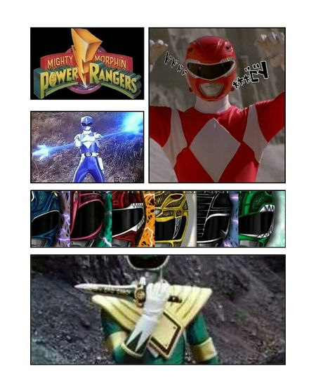 Meanwhile on Power Rangers Mighty Morphin Power Rangers