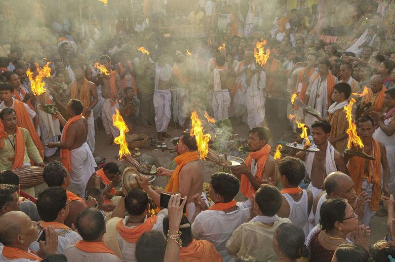 Sadhus during religious event
