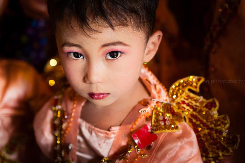 Shinbyu ceremony, Mandalay, Myanmar. Asian  Asian Culture Bokeh Burma Childhood Children Close-up Cute Documentary Eyes Face Focus On Foreground Headshot Kids Lifestyles Lovely Mandalay Myanmar One Person People Portrait Portrait Photography Selective Focus Travel Photography The Portraitist - 2016 EyeEm Awards