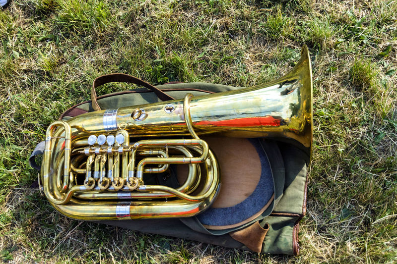 Day Grass Music Musical Instrument Outdoors Trumpet Tuba