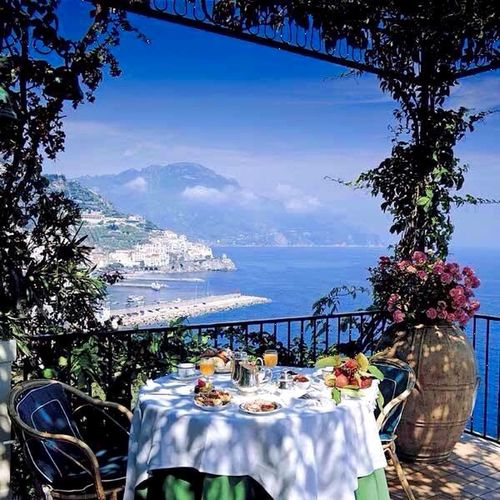 Relaxing view Hello World Check This Out Clear Blue Sky And Sea Plants And Flowers Enjoy The View