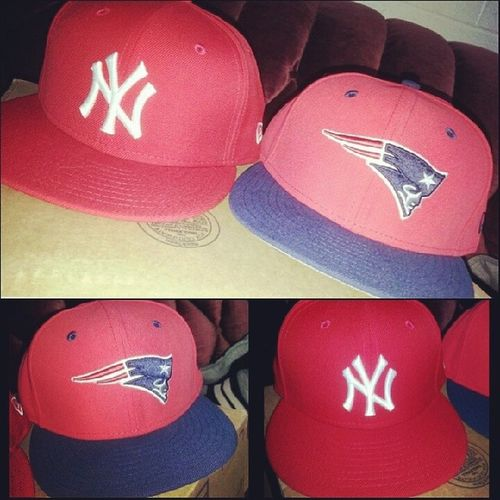 Woot Woot! got my new hats in the mail today!! 59fifty NewEra Newhats Ballcap patriots Yankees lovethem
