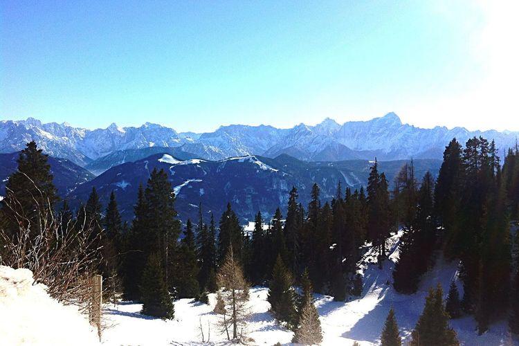 Mountains Austria Villach Winter Wonderland