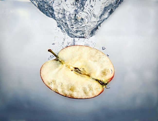 Fruit Splash Water Apple Splashing Underwater No People Drinking Glass Close-up Fishbowl Indoors