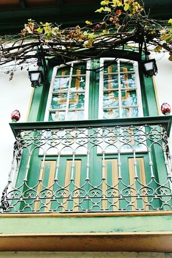 Window Architecture Low Angle View Built Structure Building Exterior Outdoors Architectural Feature Historic No People Façade Green Color Diamantina Diamantina Brazil Minasgerais
