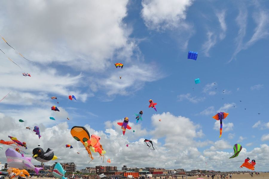 International kite festival Kites On The Beach Kites Flying In The Sky Kite Flying Bright Summertime EyeEm Gallery Kite Flying High Things In The Sky EyeEm Best Shots Different Perspective EyeEm Masterclass Sky And Clouds Blue Sky Eye4photography  Lancashire Lythamstannes Getty X EyeEm Check This Out in Lytham St Annes England🇬🇧