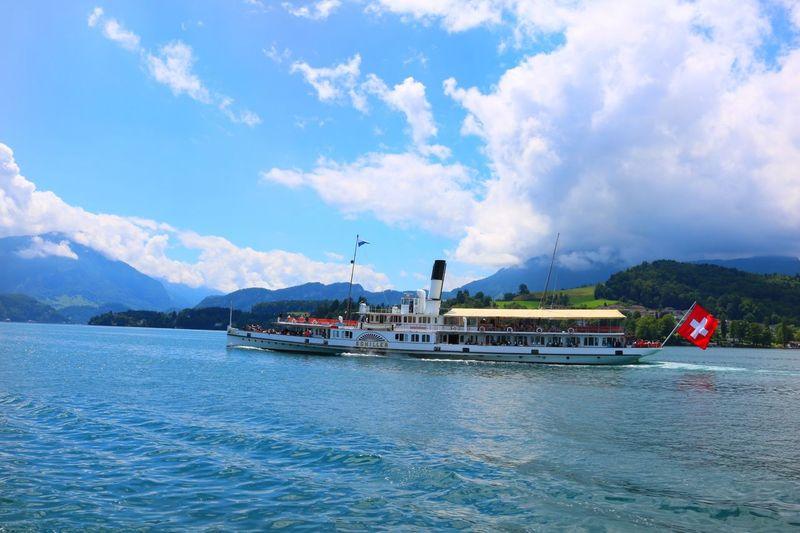 LakeLucerne Steamship Schiller Switzerland Natureis❤ Beauty In Nature Scenics Vacations Nature