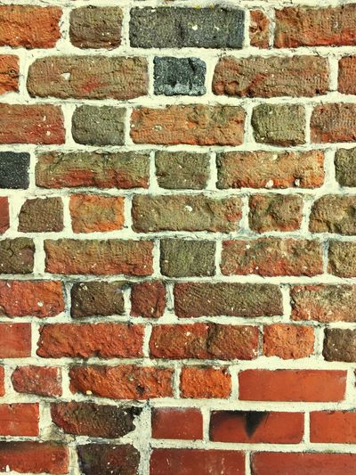 Brick Wall Backgrounds Full Frame Red Textured  Architecture No People Pattern Day Built Structure Outdoors Close-up