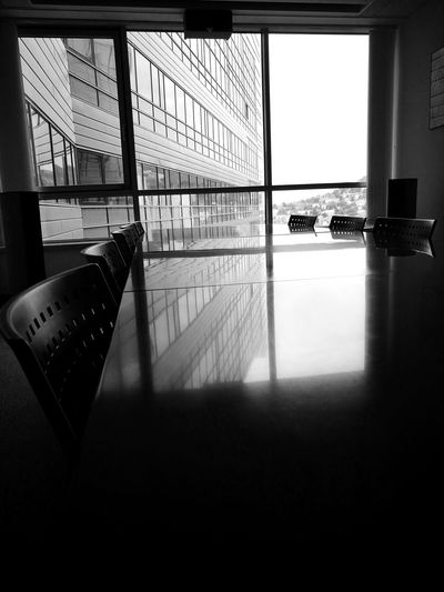 Grey mornings. Window Indoors  No People City Built Structure Architecture Shadow Peace EyeEmNewHere Blackandwhitephotography Black&white B&w Office Art Office Officelife Office Hours