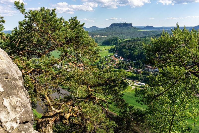 View from bastei bridge