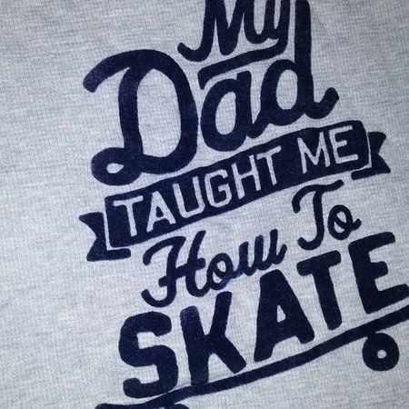 Dad Family Fatherandson Sk8life skate shredding street son clothes shirt ready2skate teach teacher firstboard board