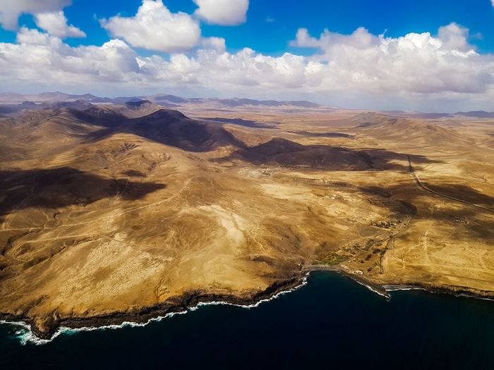 Drone  Dronephotography Drone Photography Shore Coast Water Desert Island Wawes Cloud - Sky Clouds And Sky Shadows Landscape SPAIN Fuerteventura Capture Tomorrow