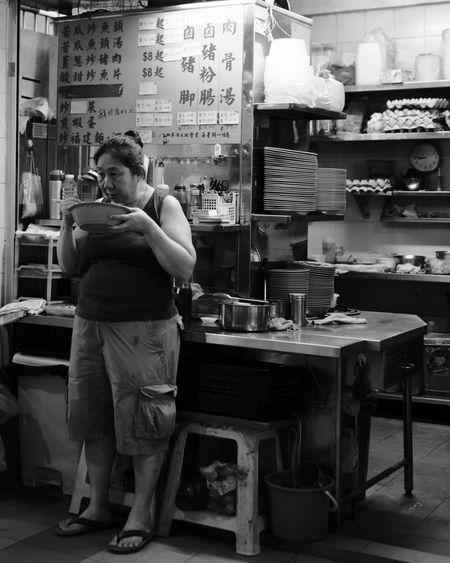 Fujifilm_xseries Fujifilm FUJIFILM X-T2 FujiAcros Streetphotography Streetvendor Street Vendor Street Street Photography Streetphoto_bw Fujinon 23mm F1.4 Fujinon23mm Noiretblanc Full Length Portrait Standing Bakery Working Small Business Cafe Mid Adult Service Drink My Best Travel Photo EyeEmNewHere
