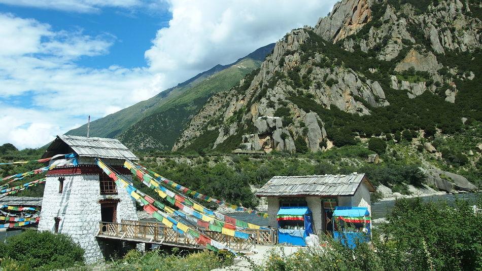 Landscape Hello World Tibet Blue Sky