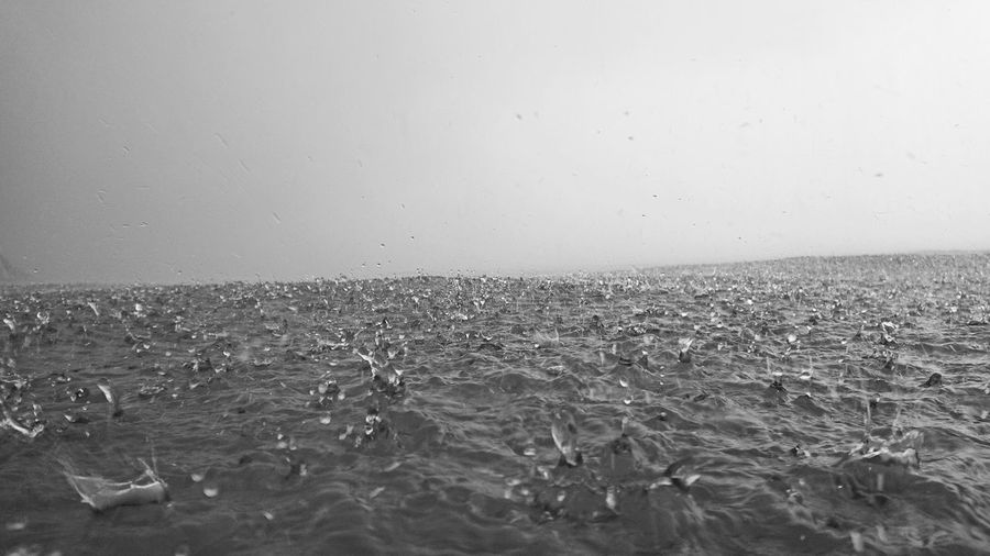 rain - bw Ocean