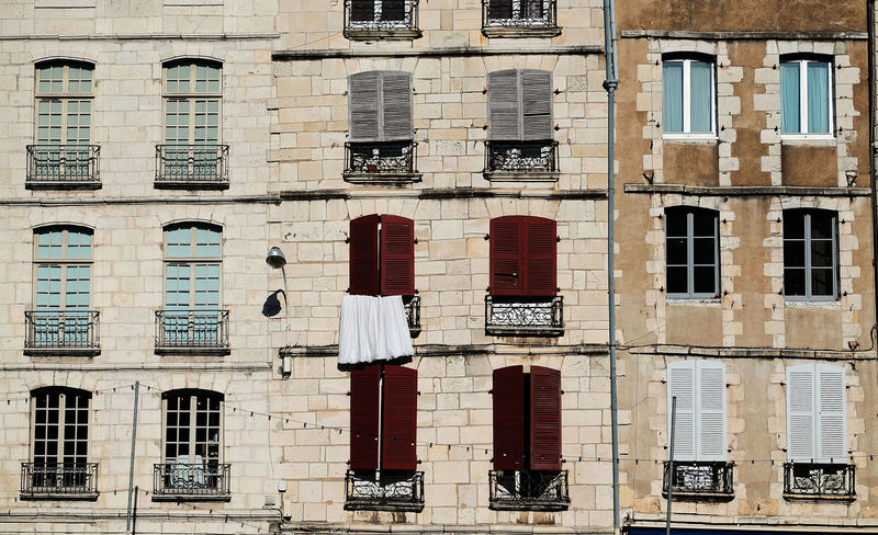 Windows of Bayonne, Pays Basque Architecture Basque Country Building Exterior Built Structure Day Full Frame No People Outdoors Shutters Sunlit Window Windows