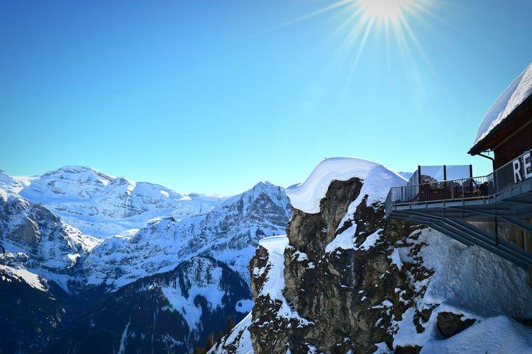 I hope you are enjoying this beautiful day.... Portes Du Soleil Champéry Enjoying Life Mountains Sun Enjoying The View Blue Sky