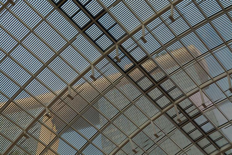 Full Frame Shot Of Metallic Roof Against Marina Bay Sands