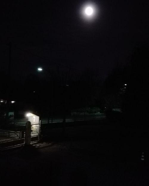 Night Illuminated Moon No People Outdoors