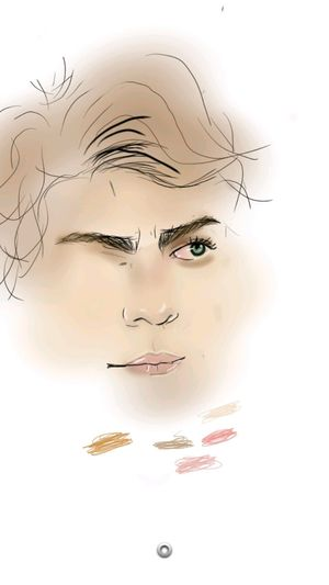 Trying to sketch Harrystyles on Sketchbook