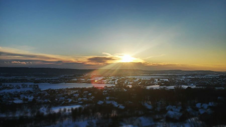 Cold Temperature Reflection Sunset Snow Winter Nature Frozen Beauty In Nature Scenics Landscape No People Outdoors Sky Many Houses Everywhere You Go You Can Find Beauty World Photography Day Smallworld Horizon Panoramique Sky Over Me
