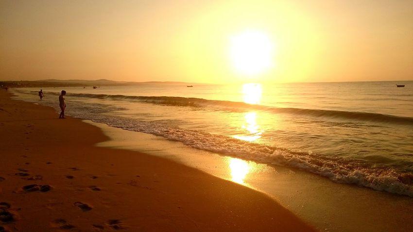 Sunrise in Ham Tien beach Sunrise Hamtien Phanthiet Vietnam Beach Reflected Glory