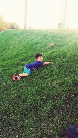 one with nature Happy Child  Green Grass