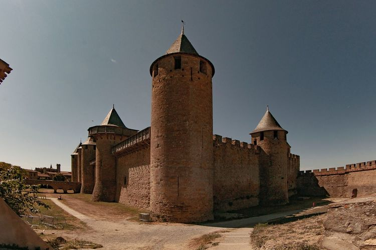 Carcassone, France Bastione Tample Building Exterior Built Structure Building Sky The Past Tower Travel Destinations Old Travel