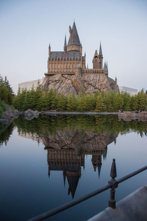 Universalstudiosjapan USJ USJ In Osaka Harry Potter Hogwarts Castle Lake Mirror Osaka 大阪 Japan Japan Photography Japan Photos First Eyeem Photo