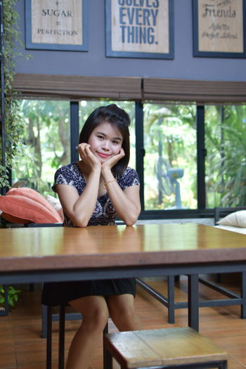 ASIA Chair Coffee Green Plant Relaxing Sitting Standing Vacations Arm Chairs Beatiful Girl Beautiful Woman Black Hair Day Daylight Girl Good Mood Indoors  Interior One Person Skirt