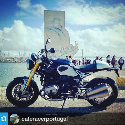 Thanks CafeRacerPortugal Rninet Ninet R9t Repost @caferacerportugal ・・・ The amazing new RnineT and the Monument of the Discoveries behind. @bmsanto