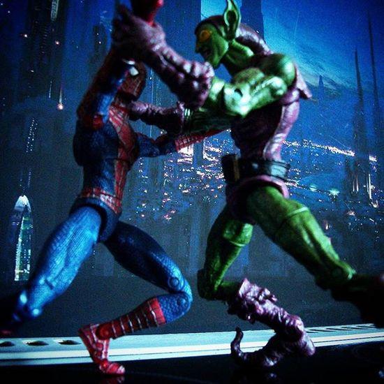 """Not so fast Web-head!"" Spiderman Greengoblin Marvelfigures Toyphotography Toysalive Toyslagram Toycrewbuddies Toygroup_alliance Wheretoysdwell Toydiscovery Toyunion Toysaremydrug Toys4life Toypops Toyartistry Epictoyart"
