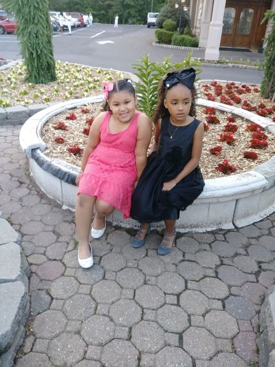 My Granddaughters Child Childhood Girls Togetherness Portrait Full Length Smiling Looking At Camera High Angle View