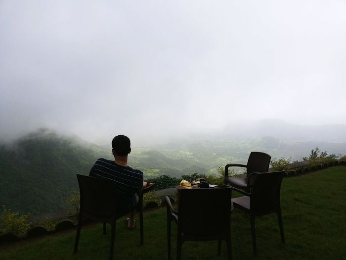 On the edge of hill facing the valley covered in fog. Valleyview India Gaganbawda Bungalow Monsoon Greenery Peaceful Open Edit Popular Photos