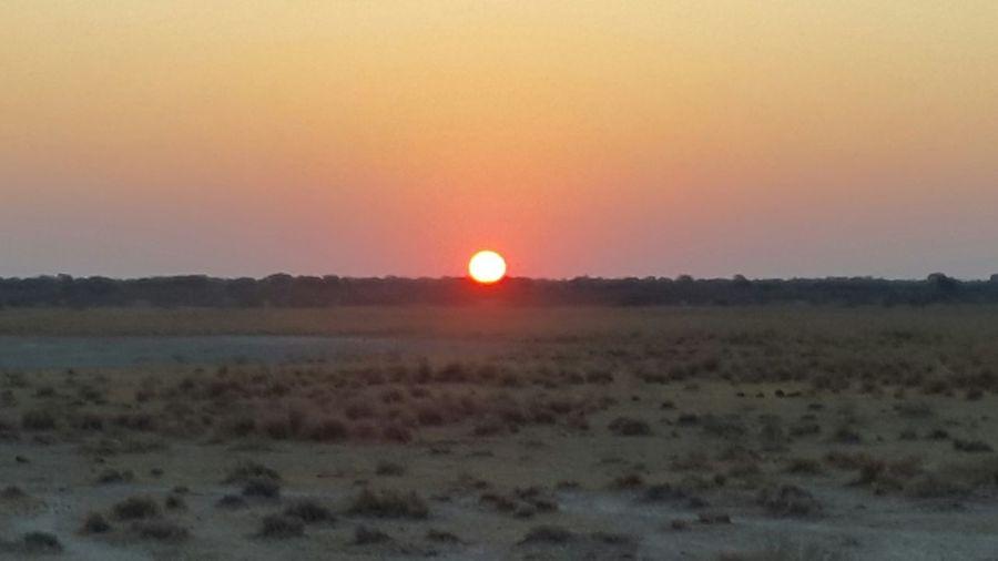 Sunset in the Kgalagadi Hello World