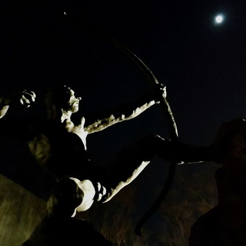 Statue ArtWork National Museum Of Western Art Herakles put an arrow through the moon